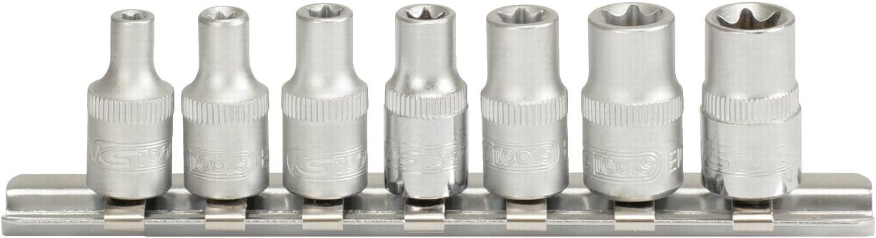 7 Pi/èces KS TOOLS 911.4355 Rail de Douilles TORX