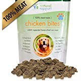 All Natural Freeze Dried Chicken Bites – The Best Dog Treats - 100% Meat (No Fillers, Additives, Gluten, Wheat, etc.) – Perfect Dog Training and Puppy Treats – Great For Traveling - Made in USA