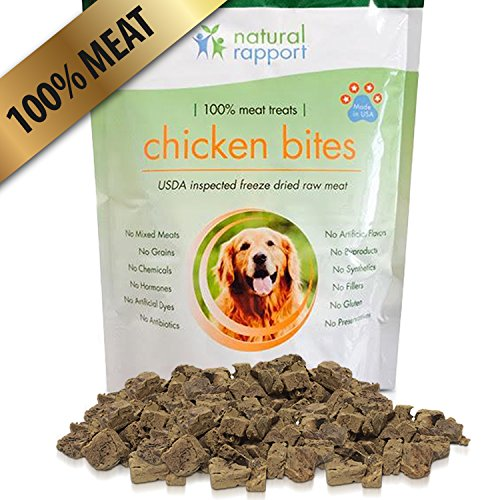 All Natural Freeze Dried Chicken Bites - The - Authority Dog Roll