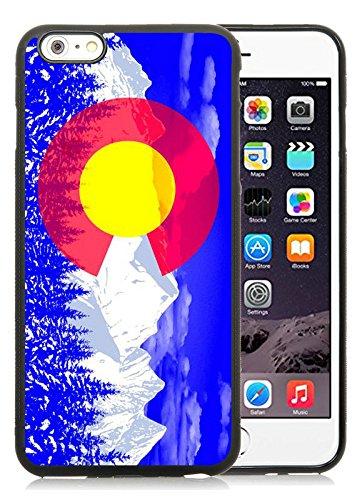 Colorado state flag 2 Black for iPhone 6 Plus 6S Plus 5.5 Inch TPU Phone Case