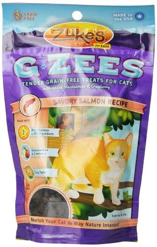 Zuke's G-Zees Cat Treats, Savory Salmon Recipe, 3-Ounces