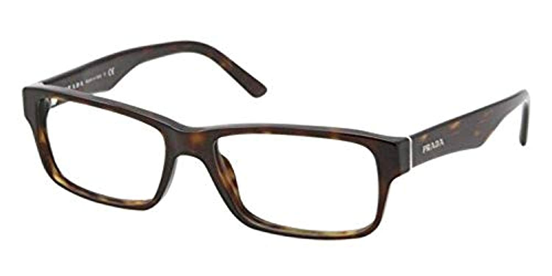 3aee3992b5 Eyeglasses Prada PR 16 MVA 2AU1O1 HAVANA at Amazon Men s Clothing store