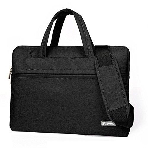 15 inch Laptop Bag Shoulder Sleeve Handbag Carrying Messenger Tablet Shockproof Business Office Briefcase with 4 (Deluxe Expandable Shoulder Tote)