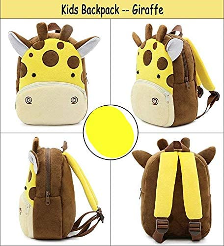 vacca da latte Zaino Asilo Bimba Animali Cartoon Mini Nido Peluche Bambini Carino per bambina bambino 1-5 anni Cute Backpack