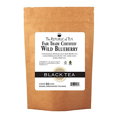 The Republic Of Tea Wild Blueberry Black Tea, 50 Tea Bags, Rich Natural Blueberry Fine Black Tea (Wild Tea Black Blueberry)