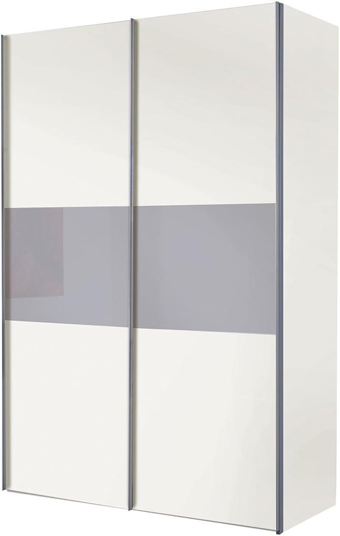 Solutions 49151 – 696 B/H/T Armario de Puertas correderas 150 x 216 x 68 cm/Blanco/Gris Cristal: Amazon.es: Hogar