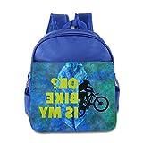 Is My Bike Okay Children Kids Small Toddler Backpack For Boy Girl RoyalBlue