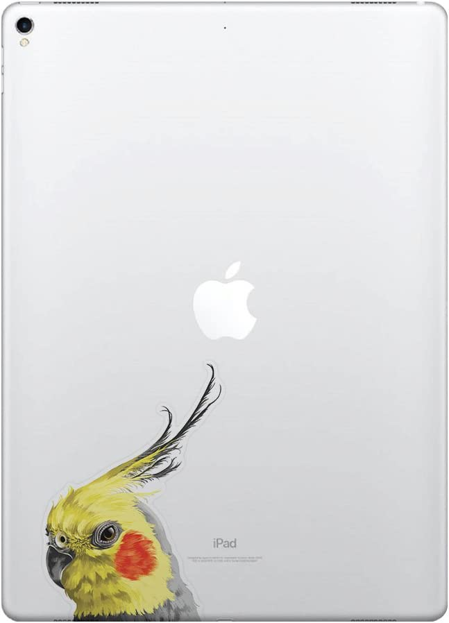 FINCIBO 5 x 5 inch Cockatiel Bird Removable Vinyl Decal Stickers for iPad MacBook Laptop (Or Any Flat Surface)