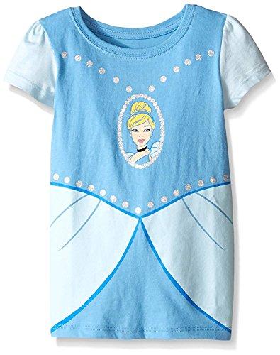 Disney Toddler Girls Cinderella Short Sleeve Costume T-Shirt, Light Blue, 2T -
