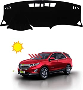 BLAKAYA Compatible with Auto Car Dashboard Carpet Dash Board Cover Mat Dash Protector for Chevy Equinox 2018 2019 2020 Sun Cover Pad