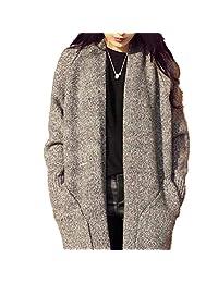 Shengruha Women Fashion Casual Long Knit Sweater Cardigan Coat Open Front