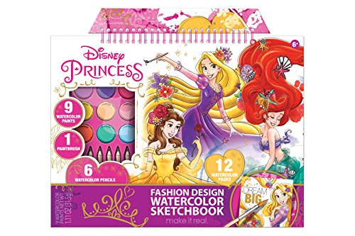 Disney Princesses Multi Watercolor: 3 in 1