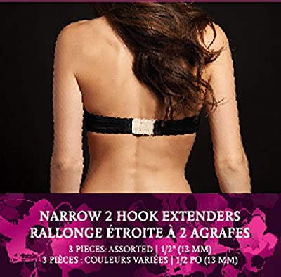 Maidenform Women's 2 Hook 1/2 Inch Spacing Bra Extender