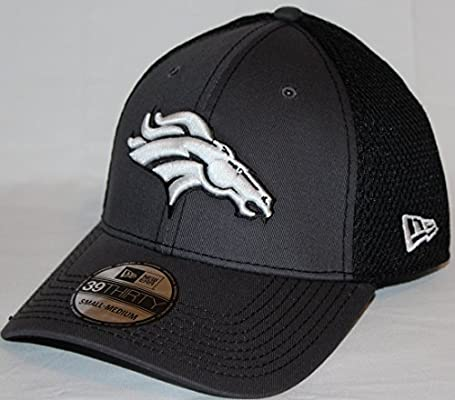 632acfb0 Amazon.com : New Era Denver Broncos NFL 39THIRTY Gray & Black Neo Flex Fit  Hat : Clothing