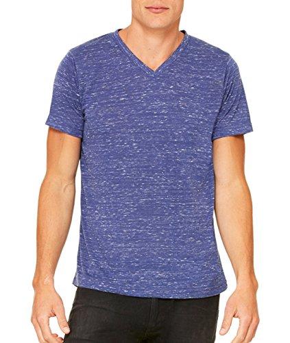 Bella mens Unisex Jersey Short-Sleeve V-Neck T-Shirt(3005)-NAVY MARBLE-2XL
