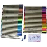 48-color Set of Finecolour Sketch Fineliner, 0.3mm Line Drawing Pen, Fine Liner Pens, Pack of 48 Assorted Colors