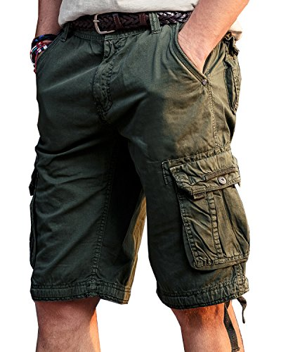 TRENSOM Men's Casual Loose Fit Cargo Shorts