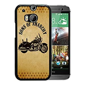 Fashionable And Unique Designed Case For HTC ONE M8 Phone Case With Sons of Anarchy Motorcycle Black