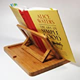 Hala Flip Cookbook Holder Bamboo Large