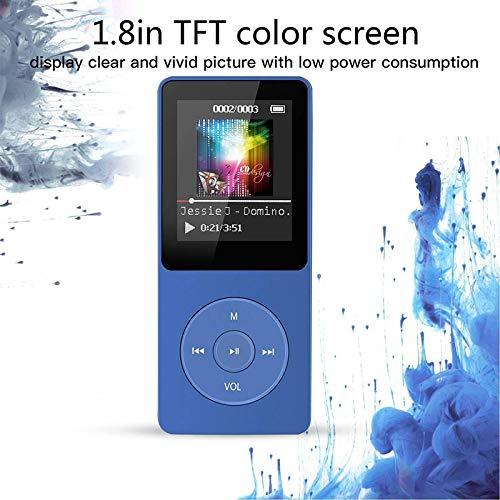 ETbotu Portable Multifunction 8GB 70 Hours Playback Lossless Sound Music AVI MP3 Player Black