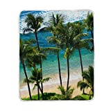 Cooper girl Beaches Of Hawaii Throw Blanket Soft Warm Bed Couch Blanket Lightweight Polyester Microfiber 50x60 Inch