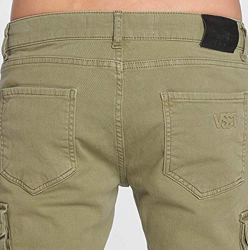 Pantalones Vsct Keanu Clubwear Caqui Cargo Hombres rFEHqwFWB