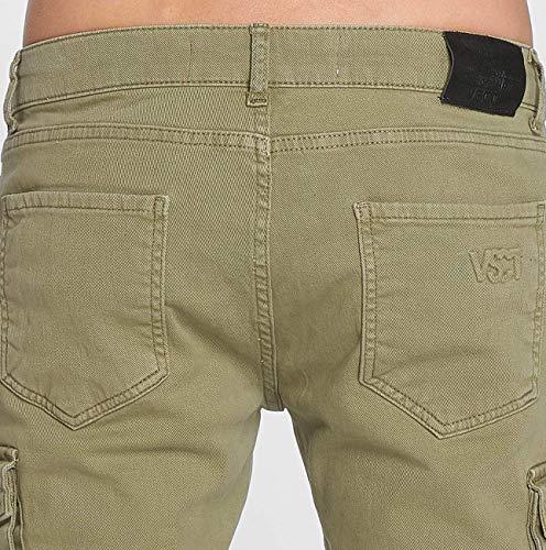 Keanu Hombres Pantalones Cargo Caqui Clubwear Vsct U6HqZFc