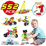 LUKAT Building Blocks Toys for 4, 5, 6 Year and Older Kids, Learning Educational Construction Set for Boys and Girls, 552 Pieces Gifts