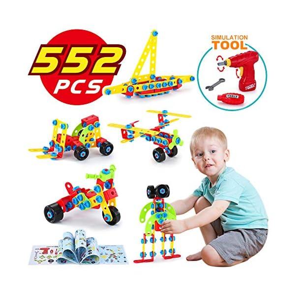 Lukat Bloques De Construccion Juguetes Para Ninos De 4 5 6 Anos Y