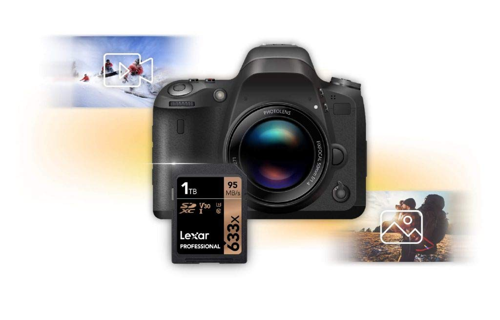 Lexar Professional 633x 512GB SDXC UHS-I Card w//Image Rescue 5 Software LSD512CBEU633