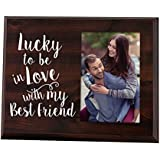 Elegant Signs Lucky to be in Love Romantic Gift Picture Frame for Boyfriend Gift for him Gift for her Wife Gift Girlfriend Gift