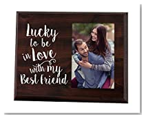 Elegant Signs Lucky to be in love Romantic Gift picture frame for boyfriend gift for him gift for her wife gift girlfriend gift anniversary gift