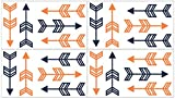 Baby and Kids Orange and Navy Arrow Wall Decal Stickers by Sweet Jojo Designs - Set of 4 Sheets