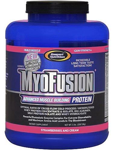 UPC 646511008564, Gaspari Nutrition Myofusion With Hydro, Strawberry, 5-Pound