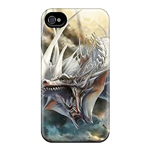 TiffanyLCarver EbXiszX6328CGZeY Case Cover Iphone 4/4s Protective Case Fantasy White Dragon