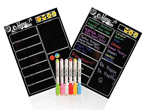 Magnetic Dry Erase Meal Planner by OacisLife | [2019 New] 16' by 12' Reusable...