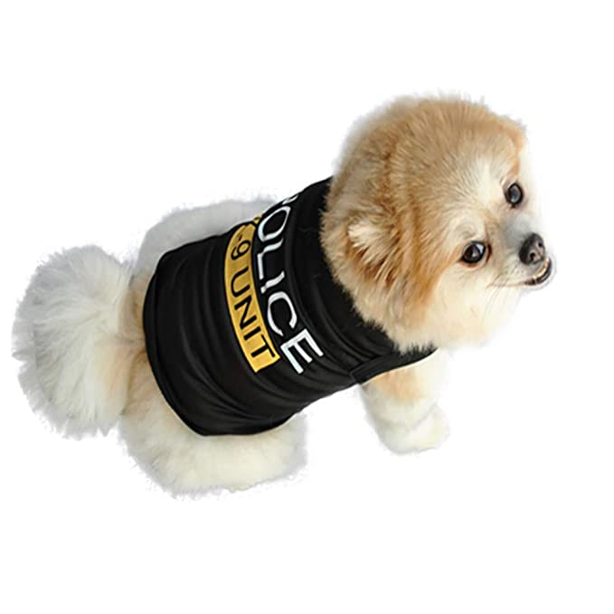 lace up in 50% off offer discounts Seaintheson Unisex Pet Shirts, Cute Dog Cat Police Printed Cool Summer  Custom Vest Puppy Apparels Clothes