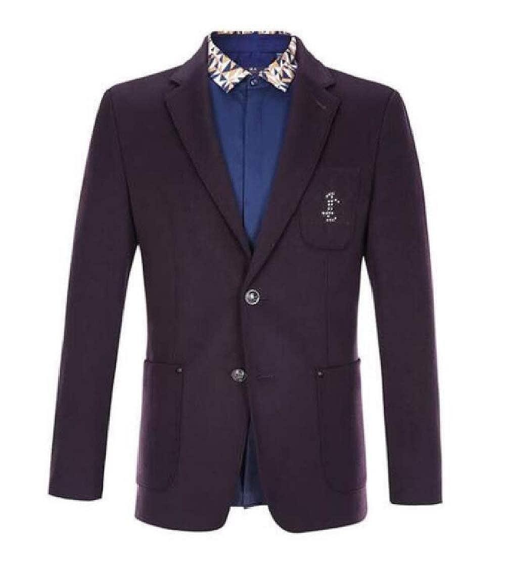 Comaba Men One Button Pure Colour Fashion Business Blazer Vest Pants Sets
