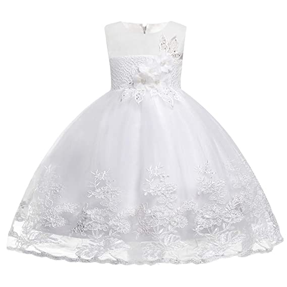 503c283f5f96b HUAANIUE Demoiselle d'Honneur Taille Fleur Enfant Princesse Robe de Cérémonie  Fille Mariage Robes Soirée