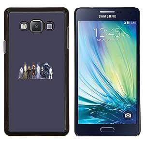 Qstar Arte & diseño plástico duro Fundas Cover Cubre Hard Case Cover para Samsung Galaxy A7 A7000 (Elementos Heros)