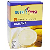 NutriWise - High Protein Diet Shake & Pudding | Banana | Low Calorie, Fat Free, Low Sugar (7/Box)