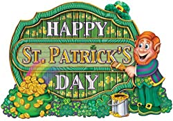 St. Patrick'S Day Sign Printed On 2 Sides - 11.5 X 16.5 Inch [60 Pieces] - Product Description - Printed Happy St. Patrick'S Day Sign With Leprechaun And Pot Of Gold. Perfect Decorative Item For Indoor And Outdoor Decoration For St. Patrick'S ...