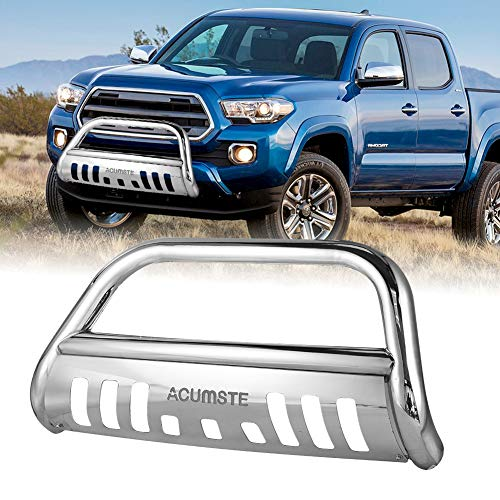 2004 Toyota Tundra Front Bumper - ACUMSTE Front Bumper Bull Bar Grille Guard Stainless Fit for 1999-2006 Toyota Tundra