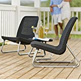 Resin Bistro Table Set Outdoor Lightweight Coffee Table 3 Pieces Patio Furniture Backyard Lawn Garden Simple Design Breakfast Modern Sturdy Rattan Lounge Chair Sidetable Rattan And eBook By NAKSHOP