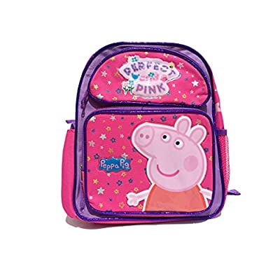 "50%OFF Peppa Pig Perfect and Pink Large 14"" School Backpack(1567)"