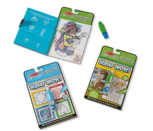 Melissa & Doug Water Wow! Water-Reveal Travel Activity Pad 3 Pack - Flip Pad, Colors-Shapes, Mazes Activity Book by Melissa & Doug (Image #1)