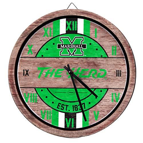 - FOCO NCAA Marshall Thundering Herd Team Logo Wood Barrel Wall ClockTeam Logo Wood Barrel Wall Clock, Team Color, One Size