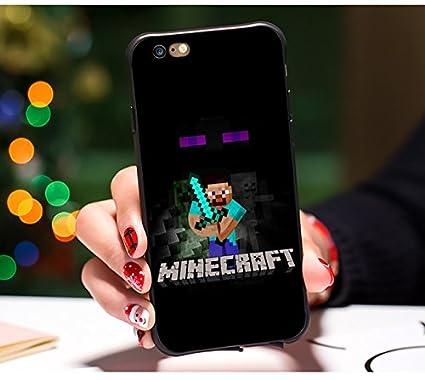 Amazon Com Black Minecraft Iphone 8 Plus Case Blue Pixel Iphone 7
