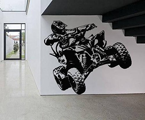 Wall Sticker Decal ATV Motorcycle Dirt Bike Sport Motocross Ride Children Guys Boys Bedroom 1637b