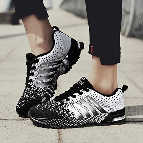 KUBUA Womens Running Shoes Trail Fashion Sneakers Tennis Sports Casual Walking Athletic Fitness Indoor and Outdoor Shoes for Women F Black Women 5 M US/Men 4 M US by KUBUA (Image #4)